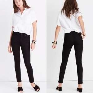 "Madewell Jeans - Madewell 9"" High rise tall stay black skinny Jeans"